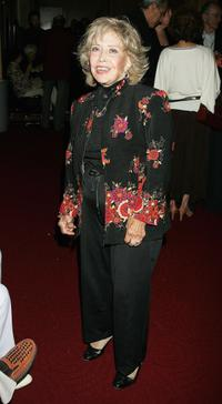 June Foray at the Academy of Motion Picture Arts and Sciences for 50th anniversary screening of