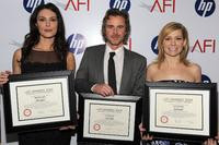 Michelle Forbes, Sam Trammell and Carrie Preston at the Tenth Annual AFI Awards 2009.