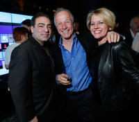 Paul Borghese, Jackie Martling and guest at the New York screening of