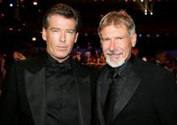 Pierce Brosnan and Harrison Ford at the 34th AFI Life Achievement Award.