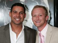 Jon Huertas and Eric Ladin at the premiere of