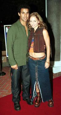 Jon Huertas and Sarah Smith at the launch party of Ritmo Beat Magazine.