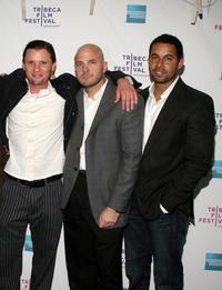Jonas Bull, Matthew Anderson and Jon Huertas at the premiere of