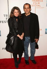 Whitney Scott and Peter Jacobson at the premiere and panel discussion of