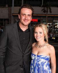 Jason Segel and Kristen Bell at the premiere of