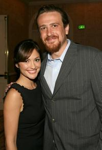 Minka Kelly and Jason Segel at the 8th Annual AFI Awards cocktail reception.
