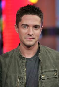 Topher Grace at the MTV's Total Request Live.