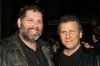 Skipp Sudduth and Paul Reiser at the after party of the opening night of Woody Allen's new play Writers Block.