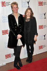 Writer Liz Brixius and Merritt Wever at the 63rd annual Writers Guild Awards in New York.