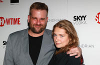 Stephen Wallem and Merritt Wever at the Showtime's 2010 Emmy nominee reception in California.
