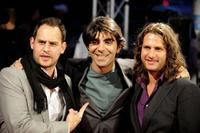 Moritz Bleibtreu, Fatih Akin and Adam Bousdoukos at the opening of Film Festival in Hamburg.