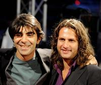 Fatih Akin and Adam Bousdoukos at the opening of Film Festival in Hamburg.