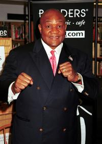 George Foreman at the promotion of his new book