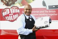 George Foreman at the tenth anniversary of his iconic brand and to officially launch of fundraising partnership between George Foreman Grills and the British Heart Foundation.