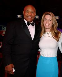 George Foreman and Kristi Frank at the Children's Miracle Network gala.