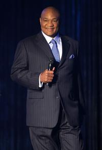George Foreman at the MTV Networks Upfront.