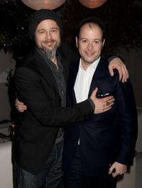 Producer Brad Pitt and Matthew Vaughn at the after party of the European premiere of