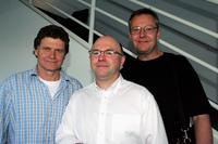 Drew Forsythe, Phillip Scott and Jonathan Beggins at the Sydney Theatre Company 2005 Season Launch (STC).