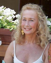 Brigitte Fossey at the French Tennis Open Finals.