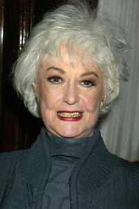 Bea Arthur at the opening night party for the play