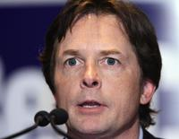 Michael J. Fox at the campaign rally for U.S. Senate Rep. Ben Cardin.