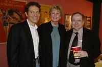 Michael Feinstein, Linda Hope and Joe Franklin at the screening of