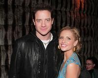 Brendan Fraser and Sarah Michelle Gellar at the afterparty for the premiere of