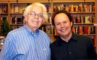 Stan Freberg and Billy Crystal at the ceremony of signing copies of his new book