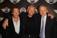 Stephane Freiss, Laurent Boyer and Thomas Valentin at the Mini Austin 50th Anniversary party.