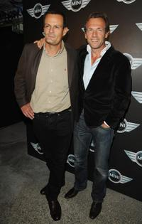 Emmanuel Brat and Stephane Freiss at the Mini Austin 50th Anniversary party.