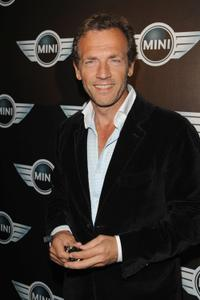 Stephane Freiss at the Mini Austin 50th Anniversary party.