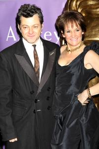 Andy Serkis and Lorraine Ashbourne at the Orange British Academy Film Awards nominees party.