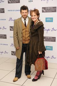 Andy Serkis and Lorraine Ashbourne at the Times BFI 53rd London Film Festival.
