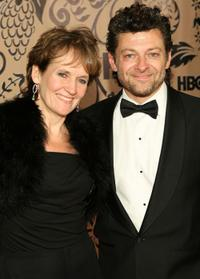 Lorraine Ashbourne and Andy Serkis at the HBO's post Emmy Awards reception.