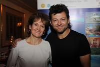 Lorraine Ashbourne and Andy Serkis at the DPA pre-Emmy Gift Lounge.