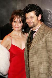 Lorraine Ashbourne and her husband Andy Serkis at the after show party following the UK premiere of