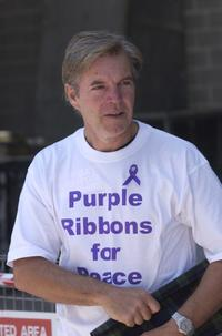 Colin Friels at the launching of Purple Ribbons For Peace Protest.