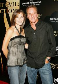 Susan Walters and her husband Linden Ashby at the premiere of