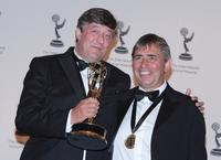 Stephen Fry and Director Ross Wilson at the 35th Annual International Emmy Awards.