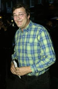 Stephen Fry at the reception and private celebrity screening of