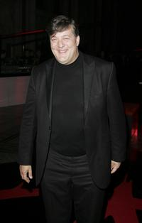 Stephen Fry at the after party following the premiere of