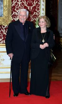 Joachim Fuchsberger and Gundula Fuchsberger at the annual new year's reception of Bavaria's state governor.