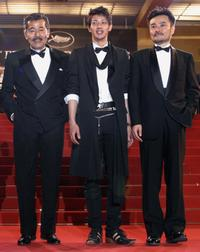 Tatsuya Fuji, Joe Odagiri and Asano Tadanobu at the screening of