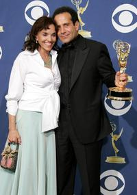 Brooke Adams and Tony Shalhoub at the 57th Annual Emmy Awards.