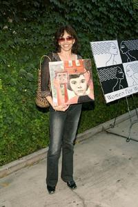 Brooke Adams at the 40 Fabulous Faces art exhibit.