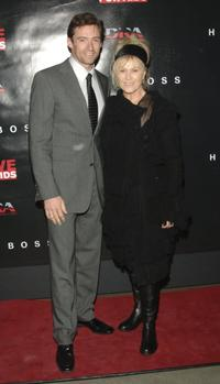 Hugh Jackman and Deborrah-Lee Furness at the Move For Aids U.S. launch and exhibition.