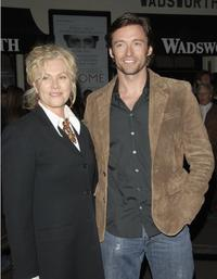 Deborrah-Lee Furness and Hugh Jackman at the Al Pacino stars in Oscar Wilde's