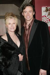 Deborrah-Lee Furness and Hugh Jackman at the Broadway opening night after party of