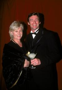 Deborrah-Lee Furness and Hugh Jackman at the Club Sinatra Presentation.