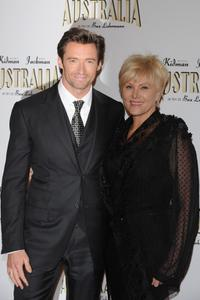 Hugh Jackman and Deborrah-Lee Furness at the Paris premiere of